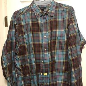 Men's Daniel Cremieux plaid shirt.